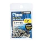 Compac Ball Bearing Swivel w/Interlock Snap Size 0 10-pk