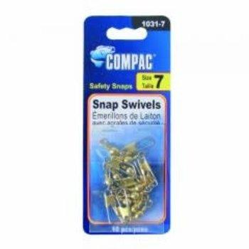 Compac Barrel Swivel w/Safety Snap Size 12 10-pk
