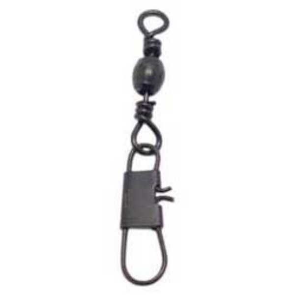 Compac Black Barrel Swivels w/Interlock Snap Size 10 10-pk