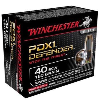 Winchester Defender Elite PDX1 Pistol Ammo, 40 S&W BJHP 180gr