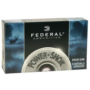 "Federal Power-Shok Shotgun Ammo 410ga 2-1/2"" 1/4oz 1780fps Slug Lead Shot 5 Rounds"