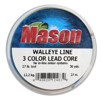 Mason Walleye Lead Core 3 Color 27lb 30yds