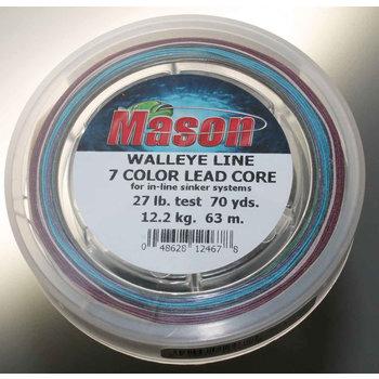 Mason Walleye Lead Core 7 Color 27lb 70yds