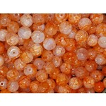Creek Candy Beads 6mm Orange Creamsicle #261