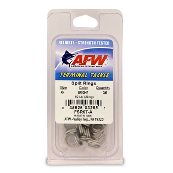 American Fishing Wire Split Ring Size 6 36-pk 50lb