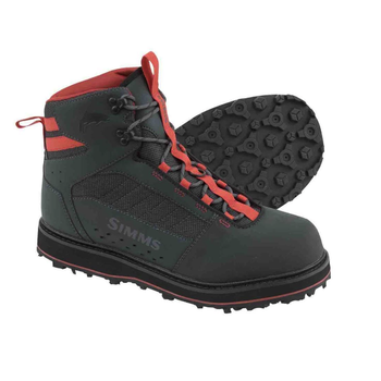 Simms Men's Tributary Wading Boots Carbon Rubber Sole 10