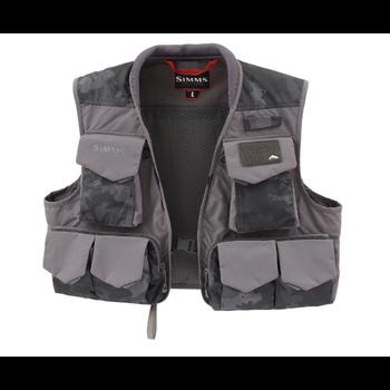 Simms Freestone Vest Hex Flo Camo Carbon XL