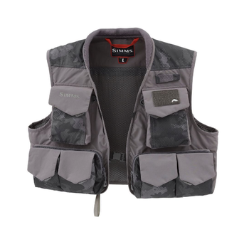 Simms Freestone Vest Hex Flo Camo Carbon XXL