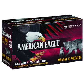 Federal Federal American Eagle .243 Win 75 Grain JHP 40 Round Box