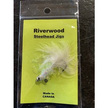 Riverwood Steelhead Jig White Sparkle