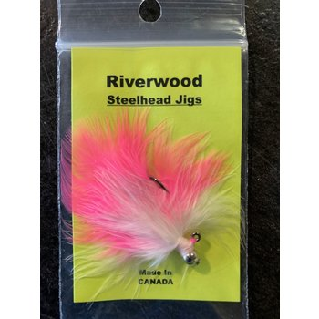 Riverwood Steelhead Jig Pink/White