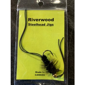 Riverwood Steelhead Jig Rubber Leg Stone Black