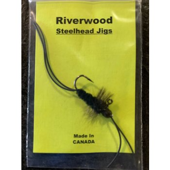 Riverwood Steelhead Jig Rubber Leg Stone Mini Black