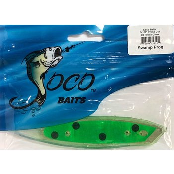 "Soco Baits Prime Cut 5-1/2"" Prime Glo Swamp Frog"