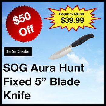 SOG Aura Hunt Fixed Blade Knife