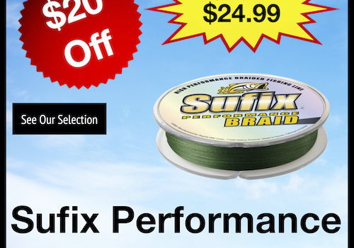 Sufix Performance Braid 50lb Lo-Vis Green 150yds