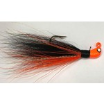 Big Jim's Bucktail Jig. 1/8oz Orange Belly Black w/Orange Head