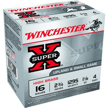 Winchester Super X 16Ga 2 3/4in 1 1/8OZ Number 4
