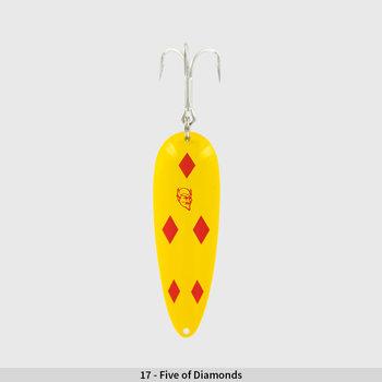 Eppinger Huskie Junior 2oz. Yellow w/Five Of Diamonds