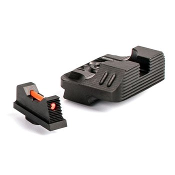 Zev Technologies Sight Set - .230 Fiber Optic Front Sight / Rear Combat v3 Black