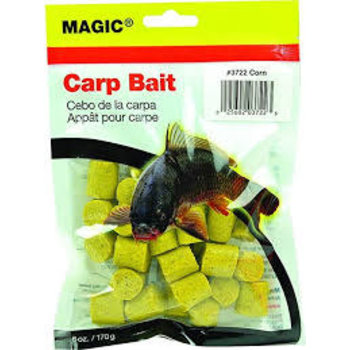 Magic 3722 Carp Bait, Preformed, 6 oz Bag, Yellow/Corn