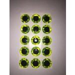 "3-D Eye Chartreuse 7/32"""