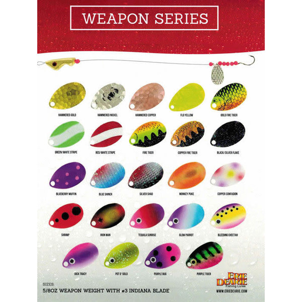 Erie Dearie Fishing Lures Weapon Purple Tiger Blade