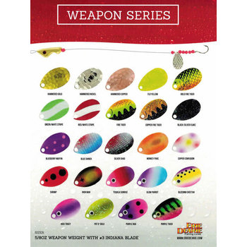 Erie Dearie Fishing Lures Weapon Glow Parrot Blade