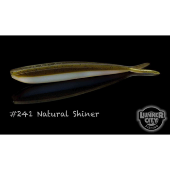 "Lunker City Fin-S Fish 4"" Natural Shiner 10-pk"