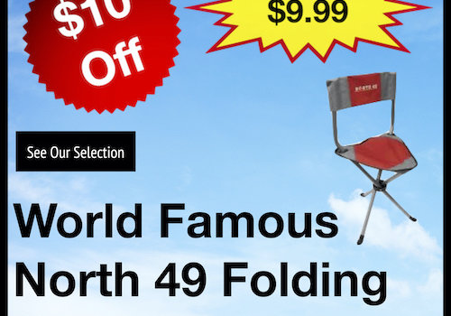 World Famous North 49 Folding Trichair