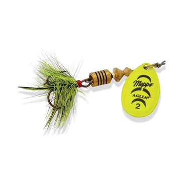 Mepps Aglia Dressed UV 1/6 OZ Size 2 Chartreuse w/Treble