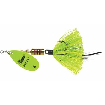 Mepps Aglia Dressed UV 1/4 OZ Size 3 Chartreuse w/Treble