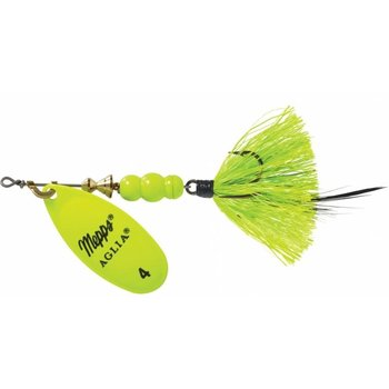 Mepps Aglia Dressed UV 1/3 OZ Size 4 Chartreuse w/Treble