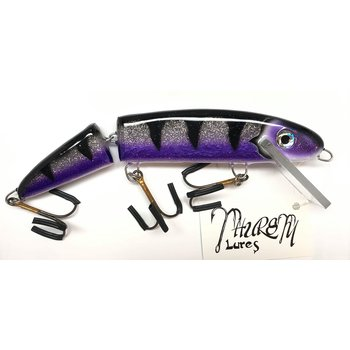 "Thursty Lures 9"" Jointed Midnight Purple Belly Svr Flake"