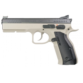 "CZ Model Shadow 2 Semi-Auto Pistol, 9MM, 4.7"" Bbl, Urban Grey Steel Frame, Black Aluminum Grip, 10 Rnd, SA/DA, Adj Sights, Manual Safety"