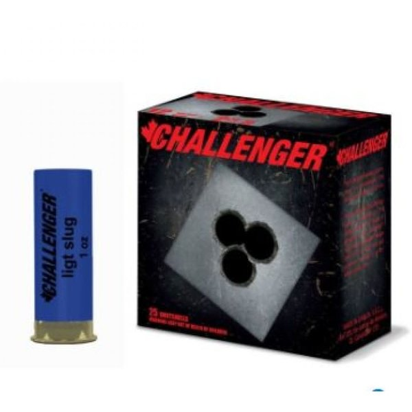 "Challenger Target Slug Shotgun Ammunition, 12 Gauge, 2.75"", Low Recoil 00150 - Box of 25"