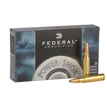 Federal Power-Shok Rifle Ammo 308 Win 180 gr Soft Point 2620fps 20 Rounds