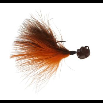 Freedom Marabou 1/8oz Swing Jig. Brown/Orange
