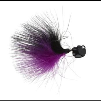 Freedom Marabou 1/4oz Swing Jig. Black/Purple