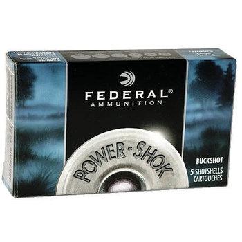 Federal Power Shok 12ga 3In Number 4 Buck