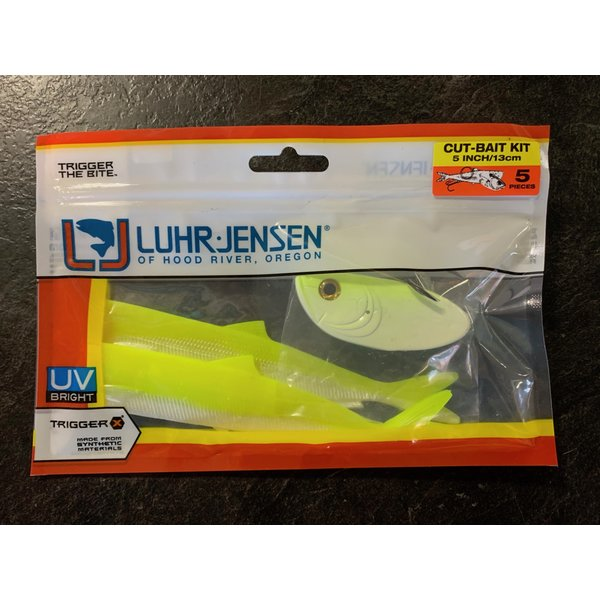 Luhr Jensen Cut-Bait Kit Pre-Rigged Chartreuse Glow