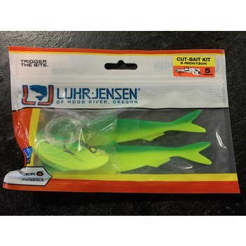 Luhr Jensen Cut-Bait Kit Pre-Rigged Glow Frog