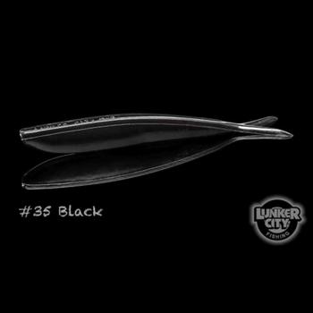 "Lunker City Fin-S Fish 4"" Black 10-pk"