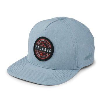 Pelagic Deep Sea Snapback Hat Slate O/S