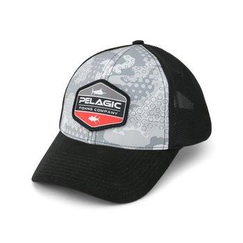 Pelagic Offshore Print Ambush Grey Hat