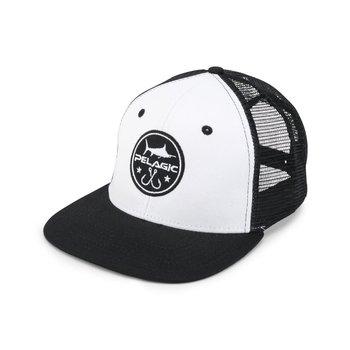 Pelagic Icon Snapback Hat White
