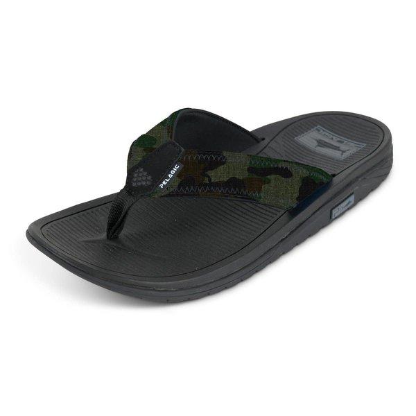 Pelagic Offshore Fish Camo Sandals Size 11