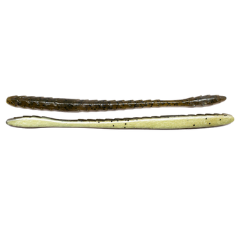"Googan Baits Slim Shake Worm 6.5"" Green Pumpkin Pearl"