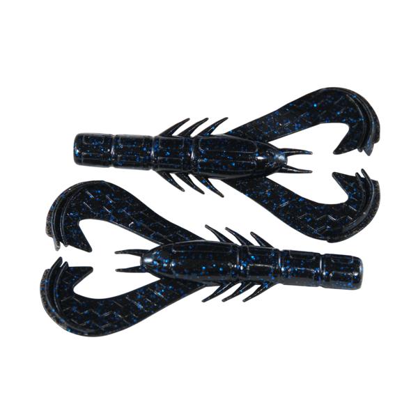 Googan Baits Krackin' Craw Black Blue Flake 7-pk