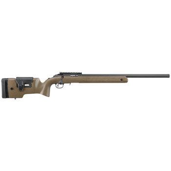 Ruger American 22 LR Long Range Target, Matte Blued, Black Laminate, Threaded Muzzle